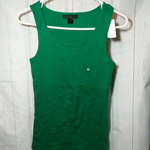 Attention women green tank top